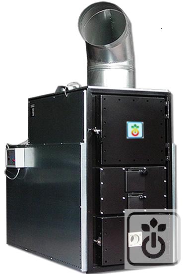 generatore di aria calda a legna a fiamma inversa|gome